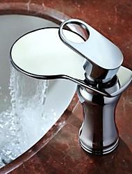 AZOS Modern Single Handle Bathroom Basin Sink Faucet Single Hole Waterfall Faucet