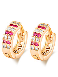 Women's Unique Design 18K Gold Plating Inlay Zircon Earrings