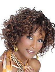 Fashion Light Brown Short Curly Woman's Synthetic Wigs Hair Freeshipping