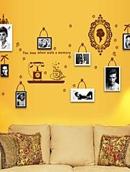 decalques de parede adesivos de parede, estilo da flor na parede espelho pvc adesivos