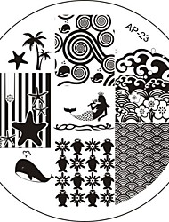 Nail Art Stamp Stamping Image Template Plate AP Series NO.23