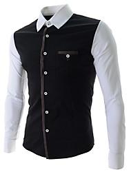 Moda coreano camisa de manga longa dos homens Bigman