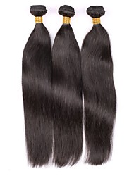 Brazilian Virgin Hair Natural colour 3Pcs 12Inch Straight Hair Weaving 100% Human Hair