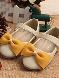 Ballerines ( Jaune/Beige/Corail ) - Cuir - Confort/Ballerine/Bout rond