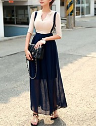 Women's Casual High Waist Pleats Chiffon Skirts
