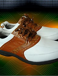 Grenda Golf Shoes Made in Real Leather Shoes White Brown Color