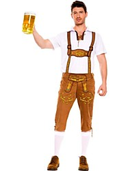 German Oktoberfest Waiter Velvet & Cotton Male Uniforms