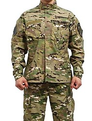 ESDY  Men's CP Camouflage BDU Uniform Cotton Polyester War Game Paintball Jacket + Pants