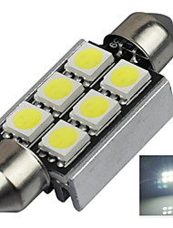 2.9W 12V 7000-8000K 39MM-5050-6SMD C5W with Radiator Canbus License Plate And Tail Box Lighting LED Light for Car