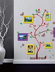 stickers muraux autocollants de mur, arbres aiment cadre photo autocollants eva stickers muraux