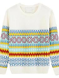 Herren Standard Pullover-Lässig/Alltäglich Druck Langarm Baumwolle Andere