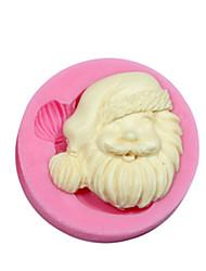 natal tema silicone molde de silicone papai noel molde doces para fondant goma fimo paste&sabonete de chocolate