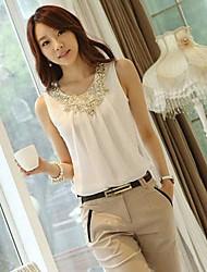 Women's Sexy Casual Micro Elastic Sleeveless Regular T-shirt