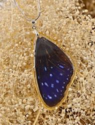 Schmetterling effect®real gestreiften blauen Luft Schmetterling einzigen Sieg Halsketten für Frühjahr fation Damen
