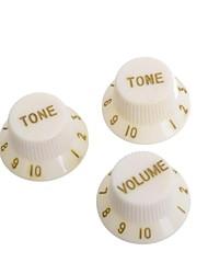 Cream & Golden Guitar Speed Control Knobs Buttons Pot Cap for Electric Guitar 50SET/LOT (1 Volume & 2 Tone A Set)
