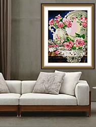 3d крестом DIY алмаз переход вышивка рукоделие люкс цветком розы украшения дома искусства наклейки 28 * 36см