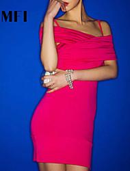 Women's Red Dress , Sexy Sleeveless