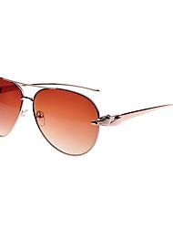 antirreflectantes aleación aviador gafas de sol retro