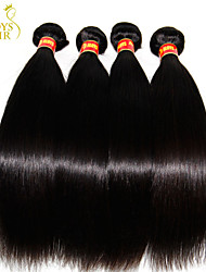 "3 Pcs Lot 8""-30"" Unprocessed Raw Brazilian Virgin Hair Straight Natural Black 6A Brazilian Human Hair Weave Bundles"