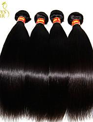 """3 pcs Lote 8 """"-30"""" madeixas de cabelo virgem brasileira crua não processada retas naturais preto 6a brasileiro do cabelo humano tecer"""