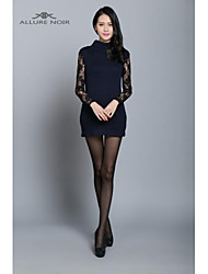 ALLURE NOIR Women's 2015 early spring new sweater lady lace cuff blue backing long sleeved sweater