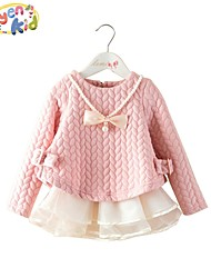 Girl's Spring/Fall Thick Long Sleeve Dresses/Sweaters & Cardigans (Cotton)