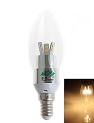 3W E14 Luci LED a candela 12 SMD 2835 280 lm Bianco caldo AC 220-240 V 1 pezzo