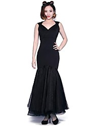 Ballroom Dance Dresses&Skirts Women's Training / Performance Chinlon Modern Dance / Performance / Ballroom / Ballroom DanceSpring, Fall,