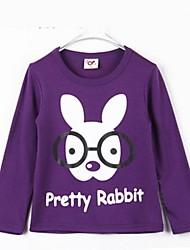 Boy's Fashion Cartoon Glasses Rabbit Design Tees