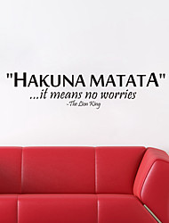 Wall Stickers Wall Decals, Hakuna Matata  English  Words & Quotes PVC Wall Stickers