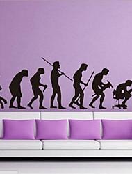 un schéma de l'évolution humaine de tv seeting sticker mural / chambre / bureau sticker mural ambiante