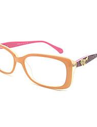 [lentes livres] retângulo acetato full-jante óculos de grau fashion das mulheres