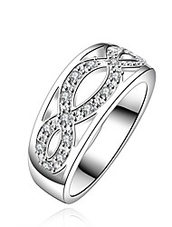 MONA Women's 925 Silver Top Selling Classic Simple Ring