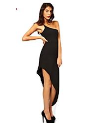 Kalimie Women's One Shoulder Sexy Fashion Asymmetrical Bodycon Dress