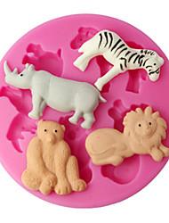 pasta de goma moldes diferentes animais molde de silicone para o bolo