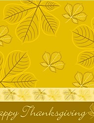 Personalized 50 pcs/Lot Yellow Leaf Turkey Happy Thanks Giving Paper Card
