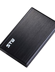 "STW Super Speed USB 3.0 Sata External Aluminum 2.5 Inch Hard Drive Case for 9.5mm & 7mm 2.5"" Sata HDD and SSD"