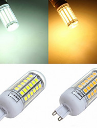 1pcs G9 15W 69x5050SMD 1200LM White Light LED Corn Bulb Home Lamp House LED (220-240V)