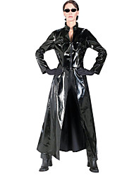 Sexy The Matrix Unisex Black PU Leather Halloween Costumes