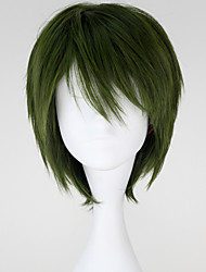 Cosplay Wigs Cosplay Midorima Shintaro Green Short Anime Cosplay Wigs 32 CM Heat Resistant Fiber Male