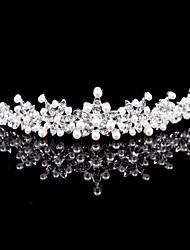 Alloy Tiaras With Imitation Pearl/Rhinestone Wedding/Party Headpiece