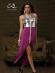 OBELL® Women's Sexy/Club Contrast Color Splicing Irregular Hem Dress(Knit/Others)