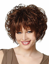 New Fashion Charming African American Hair Wigs Short Kinky Curly Capless Synthetic Hair Wigs For Black Women