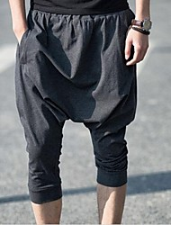 Men's Loose Casual Low Crotch Harem Cropped Shorts