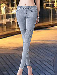 PANTALONI DONNA  -  Jeans  -  Elastico  -  Medio  -  in Jeans
