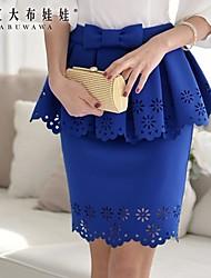 Pink Doll® Women's Bodycon/Work Medium Asymmetrical Skirts
