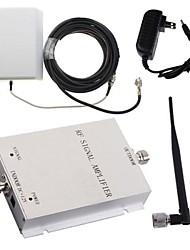 mini-3g980 2100MHz amplificador celular booster de sinal móvel repetidor rf + kit painel antena externa