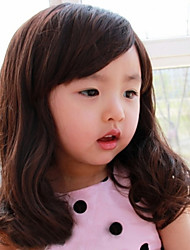 Children Oblique Bangs Long Hair Wig