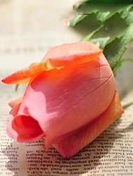 "18""L Bud Rose Silk Cloth Flowers Set of 2 Orange"