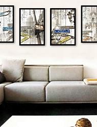 e-home® emoldurado arte da lona, lâmpada de rua enquadrada tela de definição de impressão de 4